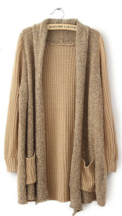 Knit cardigan sweater- this looks so comfy I don't know why, but I ...