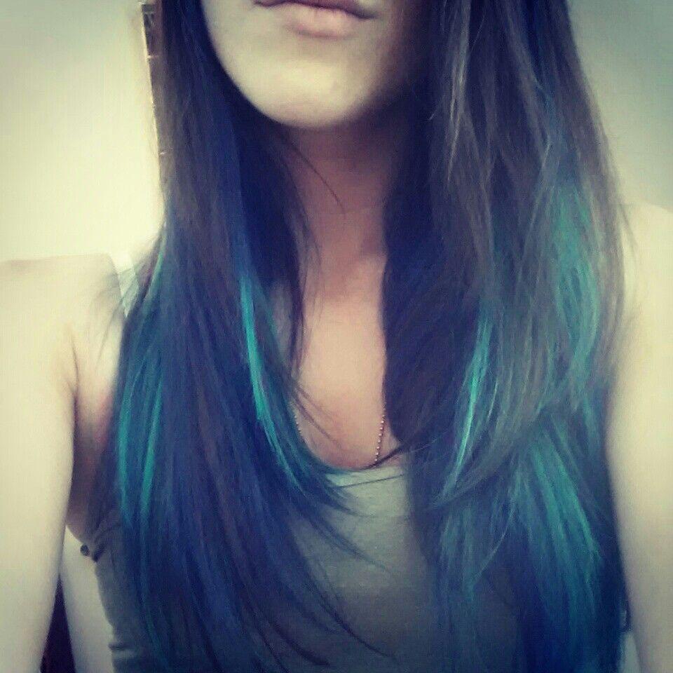 Splat Blue Envy And Manic Panic Atomic Turquoise Turquoise Hair Haircut And Color Manic Panic Turquoise