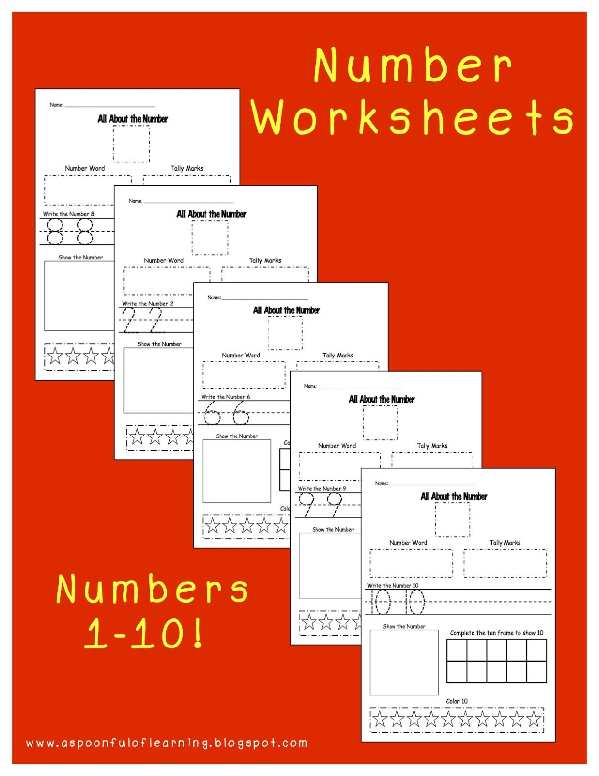 All About Numbers 1 10 Actiivities