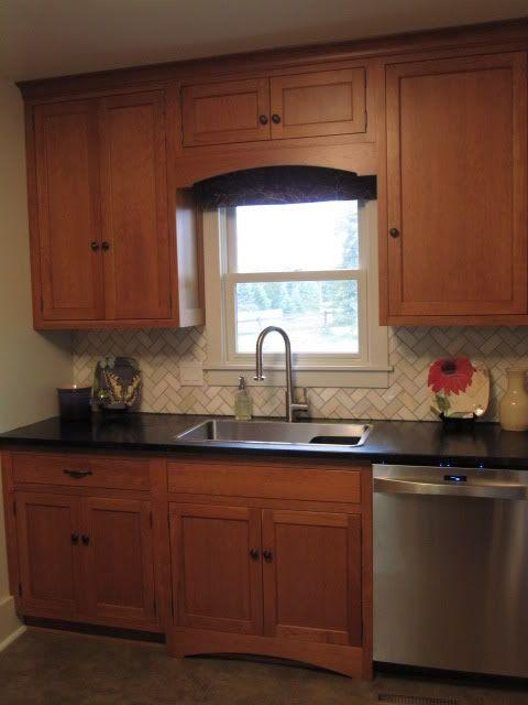 Backsplash Ideas For Black Granite Countertops And Maple Cabinets Part - 21: Ideas For Kitchen Update - Beautiful Cabinets U0026 Backsplash