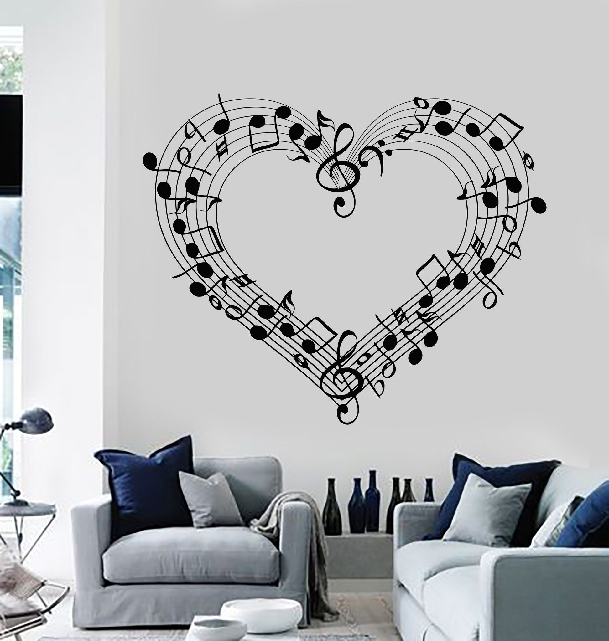 wall decal sheet music love coolest room decor vinyl on wall stickers painting id=13859
