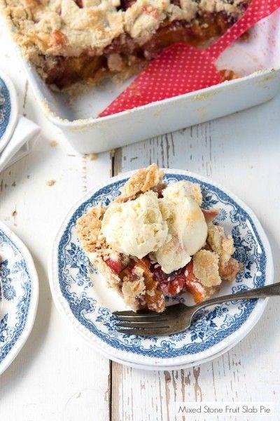 Mixed Stone Fruit Slab Pie   Slab pie, Fruit slab pies ...