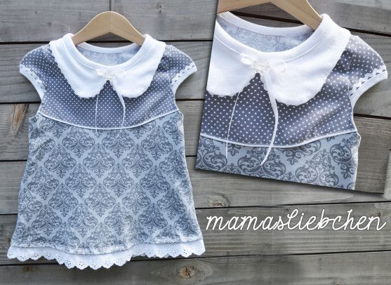 adding a peter pan collar to a round neck pattern