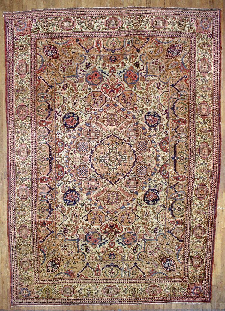 Persian Tabriz Rug 8 10 X12 14 Huntt Vintage Rugs Kilims Rugs Persian Tabriz Rug Tabriz Rug