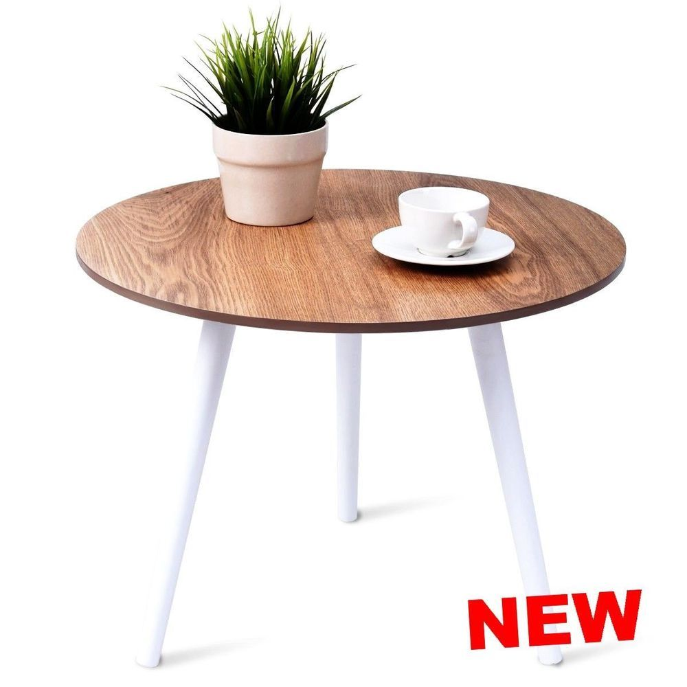 Small Round Coffee Table End Dining Living Room Modern Snack Furniture Wood Legs Coffee Table Living Room Modern Round Coffee Table [ 1000 x 1000 Pixel ]