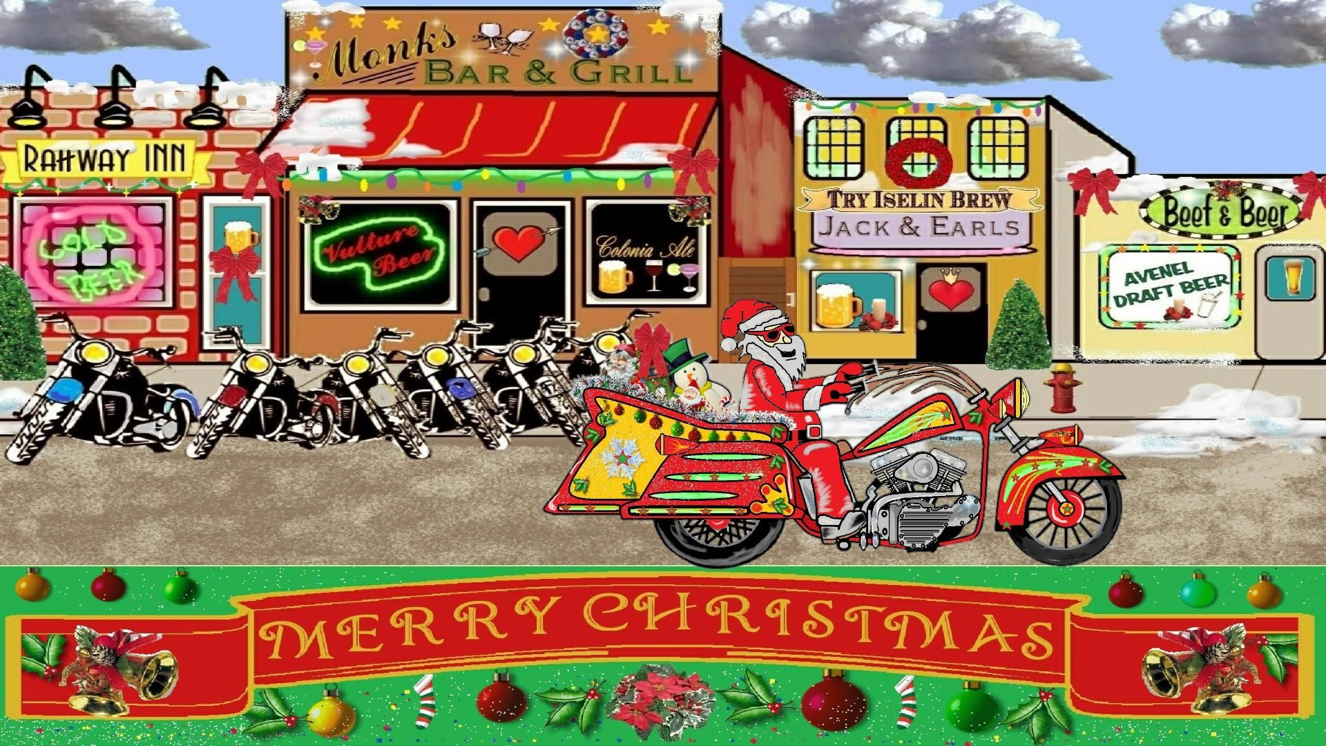 Santa  Claus Motorcycle