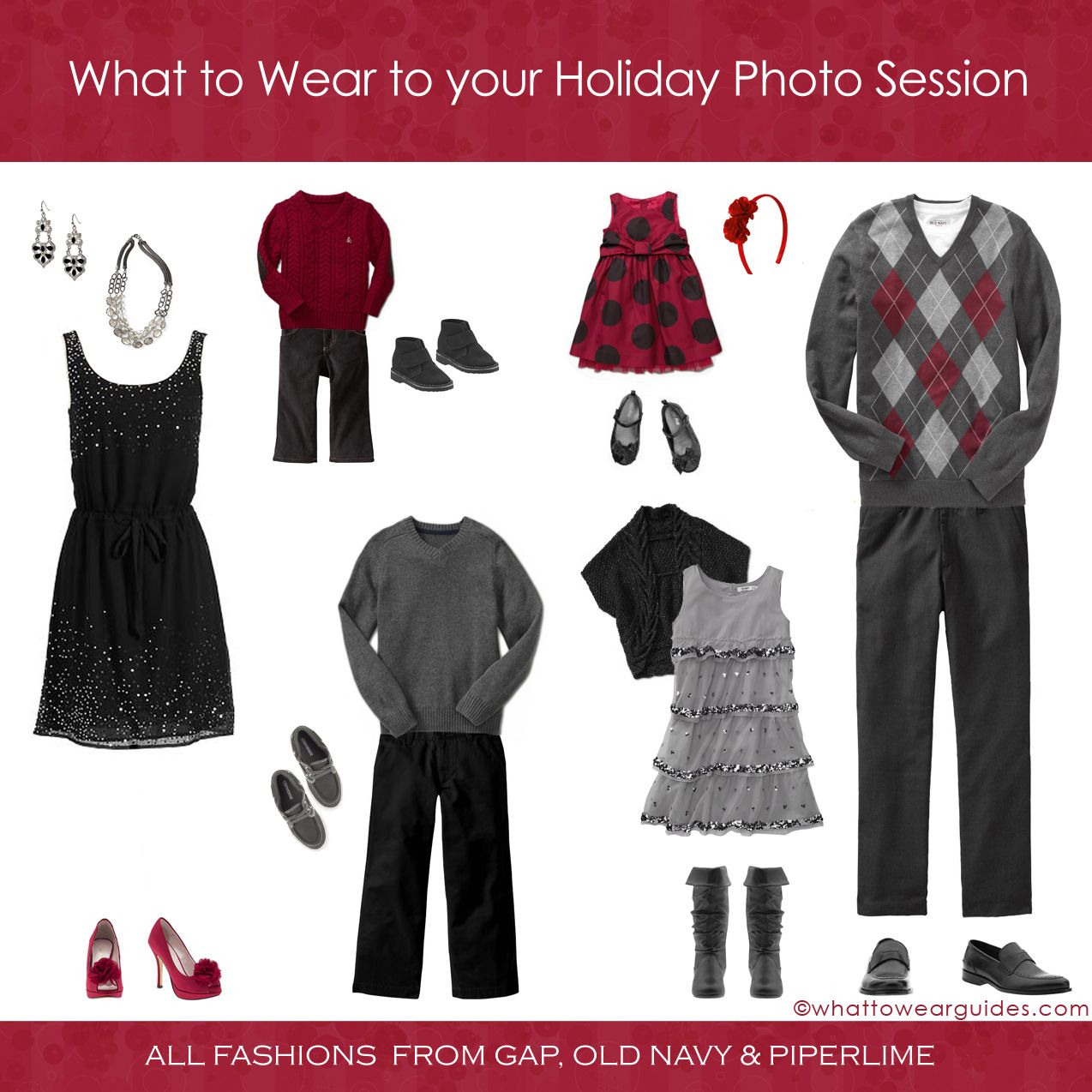 What To Wear For A Family Christmas Photo ShootGreat Flow Without That Matchy Vibe Use Prints And Textures Touches Of Colors Your