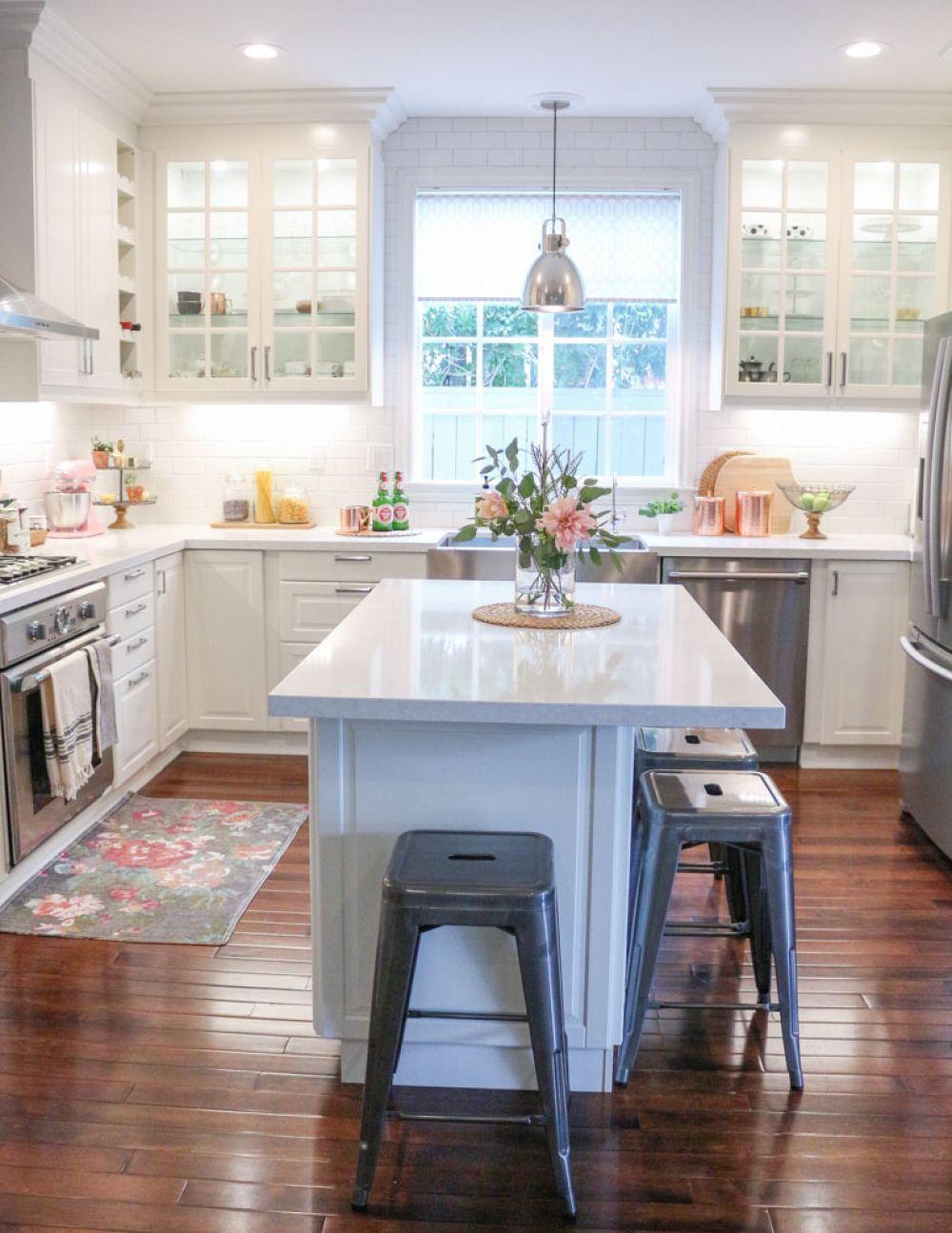 22 Tulsa Remodel Reveal Modern White Farmhouse Ideas Kitchen Remodel Small Kitchen Island With Seating Modern Kitchen