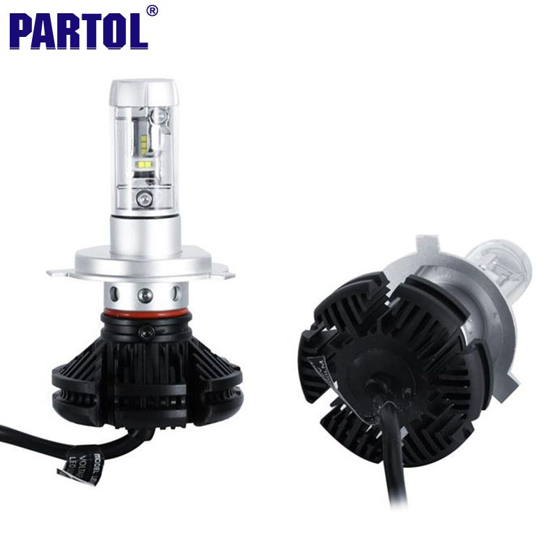 Partol H4 H7 H11 9005 9006 H13 Auto Led Koplampen Lampen 50 W 6000lm Cree Chips Alle In Een Csp Led Koplampen 3000 K 6500 K 8000 K Headlight Bulbs Led Headlights Car Headlights
