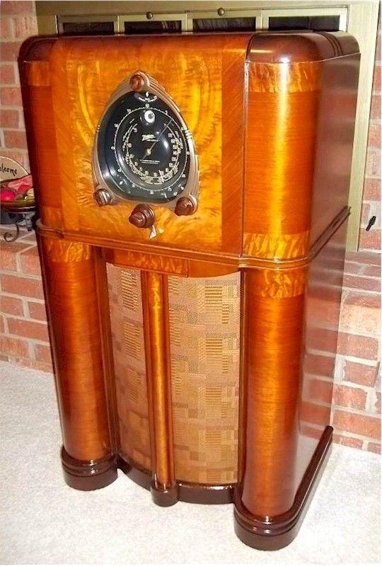 Zenith 12 S 265 Robot Dial Console Radio 1938 Em 2020 Radio Antigo Inspirador Decoracao