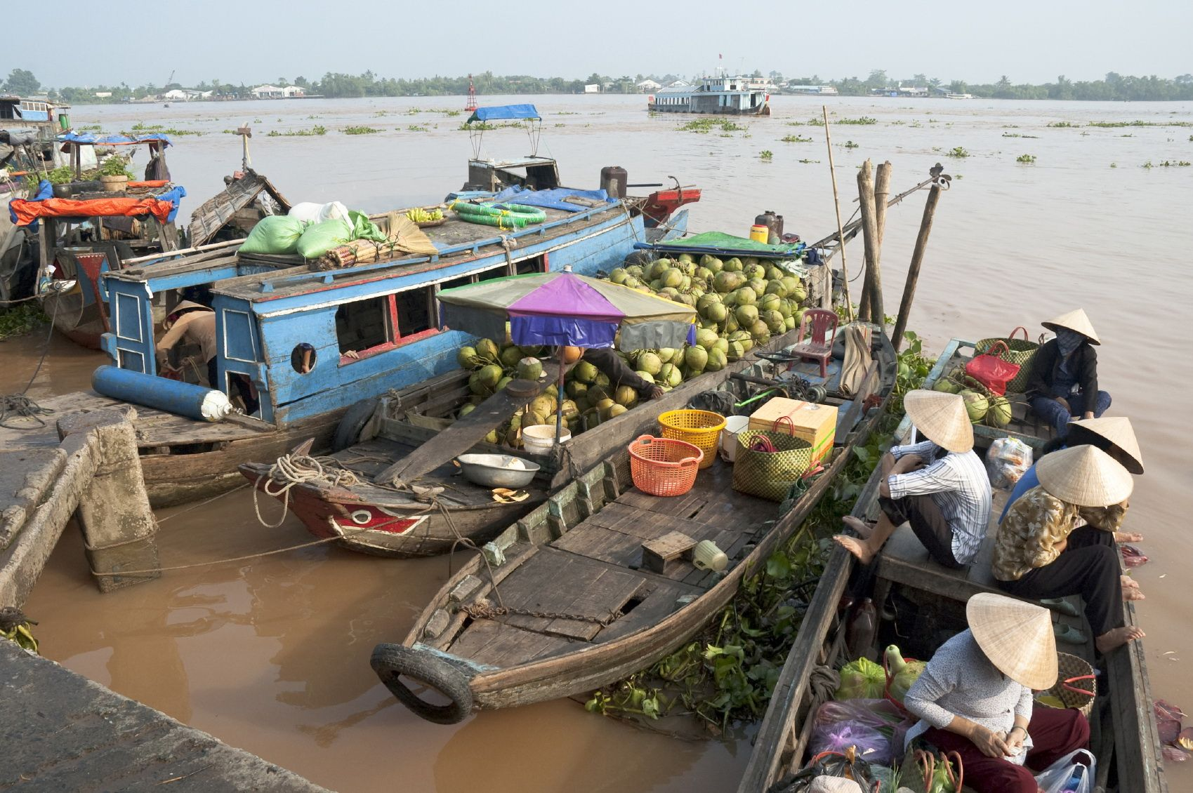Vietnam's Mekong Delta has some lovely floating markets. Time your trip right as certain 'lunar' days see markets busier than other days. Aslo avoid after the Vietnamese New Year period as the vendors return to their villages for up to a month during this time.