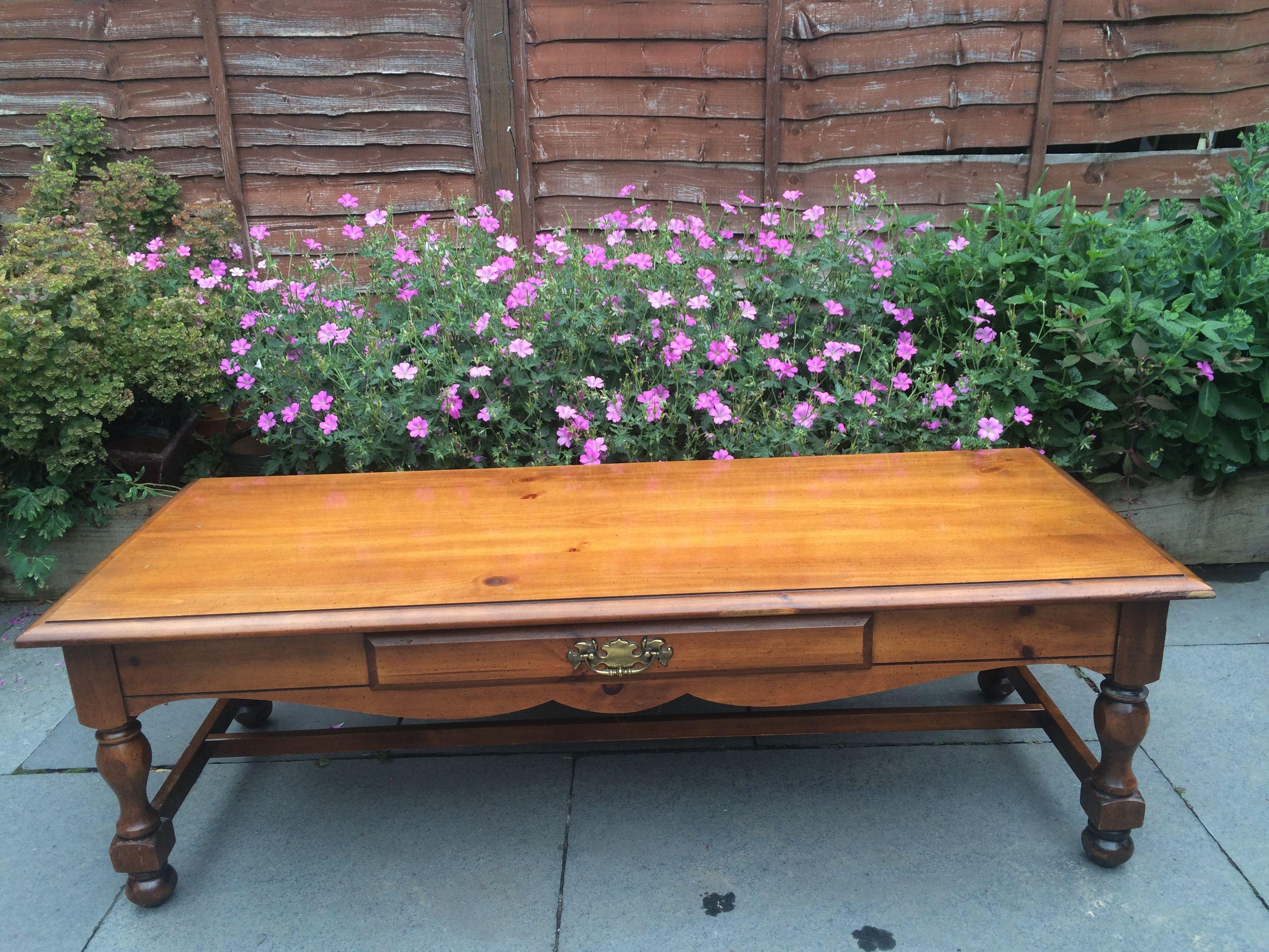 Bassett Genuine Furniture 1960s solid wood coffee table
