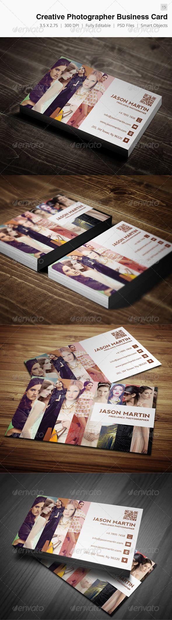Creative Photographer Business Card - 15 | Photographer business ...