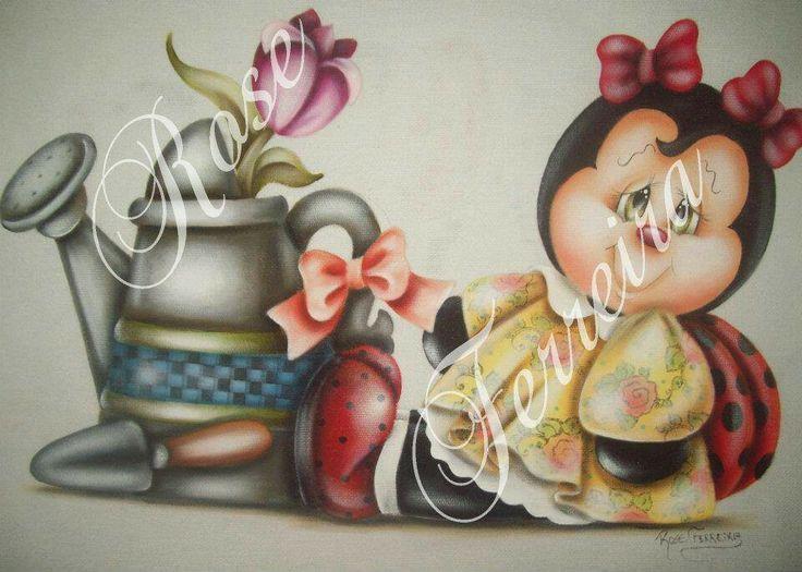 rose ferreira pinturas em tecido - Pesquisa Google