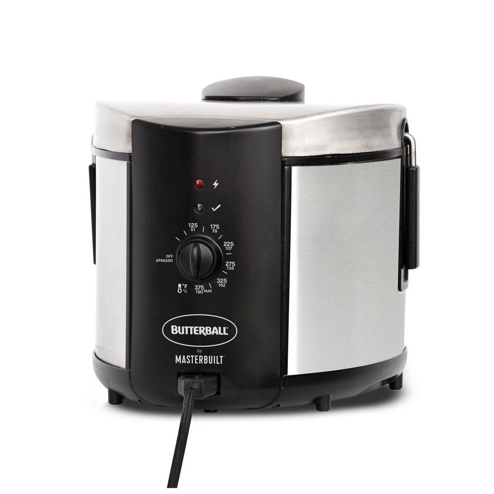 Butterball 5l Electric Fryer Stainless Steel Color Medium Silver Butterball 5l Electric Fryer St Electric Fryer Butterballs Butterball Electric Turkey Fryer