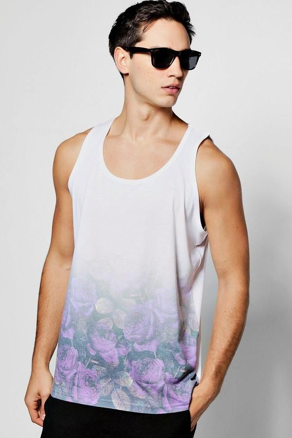 boohoo Rose Faded Sublimation Vest