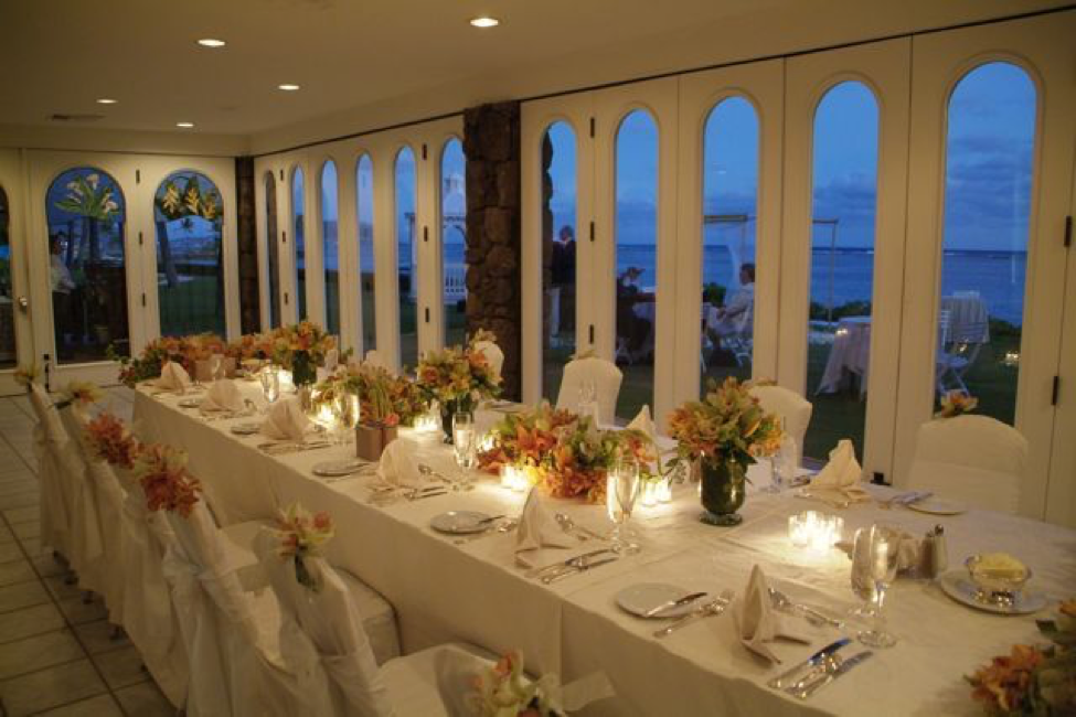 Beautiful Wedding Reception At The Kahala O Ke Kai Hall