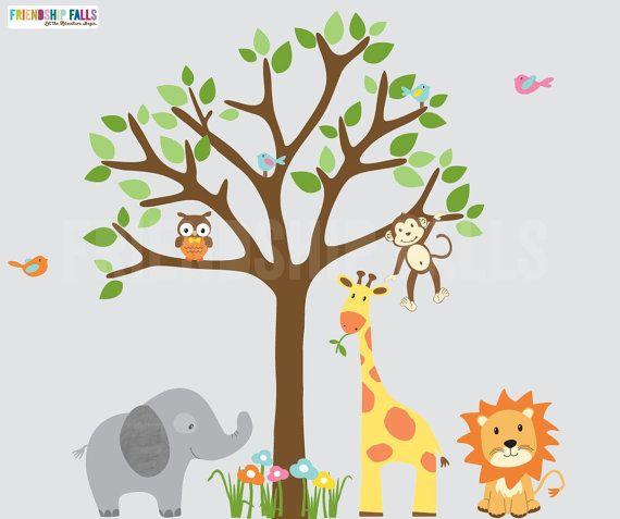 Jungle Decals Gender Neutral Jungle Wall Decals By FriendshipFalls - Nursery wall decals gender neutral