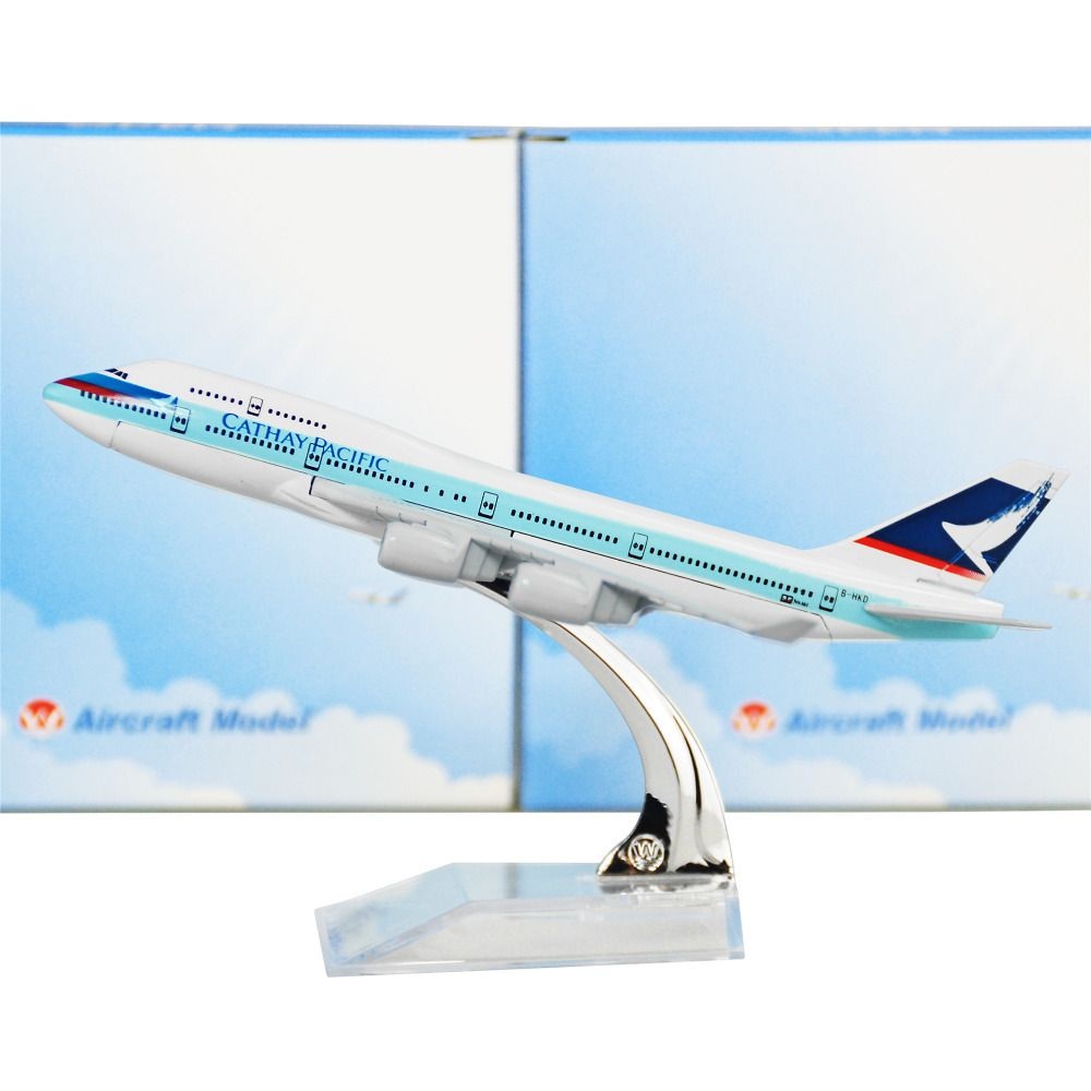 Boeing 747 16cm Aircraft Plane Cathay Pacific Airlines Aircraft Model Toys Gifts