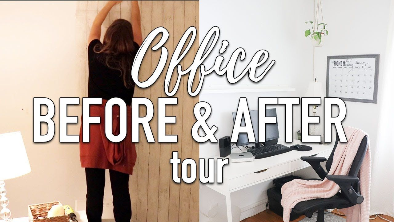 Home Office Organization Before And After Tour Minimalist Office Office Organization Home Office Organization Minimalist Home