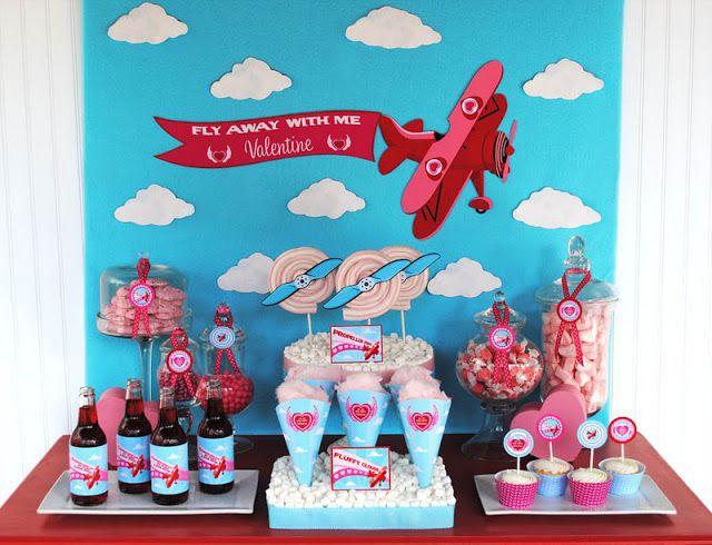 Kara's Party Ideas Fly Away With Me Valentine's Party - Airplane Party Ideas |