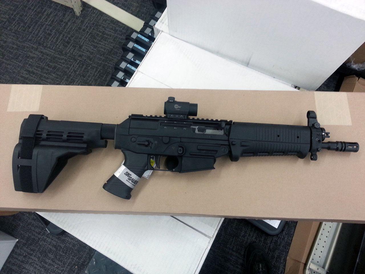 Sig 556 pistol with SB15 pistol stabilizing brace | Guns ...