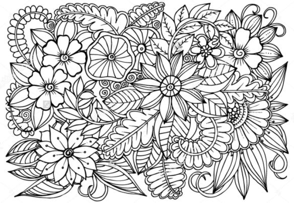 Menggambar Doodle Art Bunga Flower Di 2019 Gambar