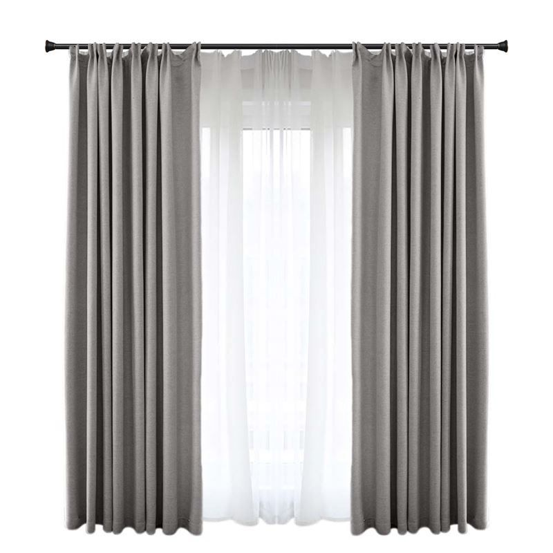 Solid Grey Blackout Curtain Modern Simple Curtain Living Room Bedroom Fabric One Panel Grey Curtains Living Room Curtains Living Room Luxury Curtains
