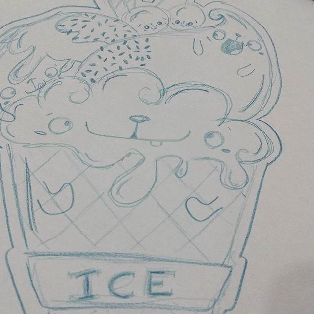 Rascunhando.... 😁🤗✏ #draw #art #desenho #rascunho #debuxo #funart  #cuteart #bichineos #fofineos #sorvetineos #loveart #lovedraw #icecream #cuteicecream #ilustração  #illustration #ilustra