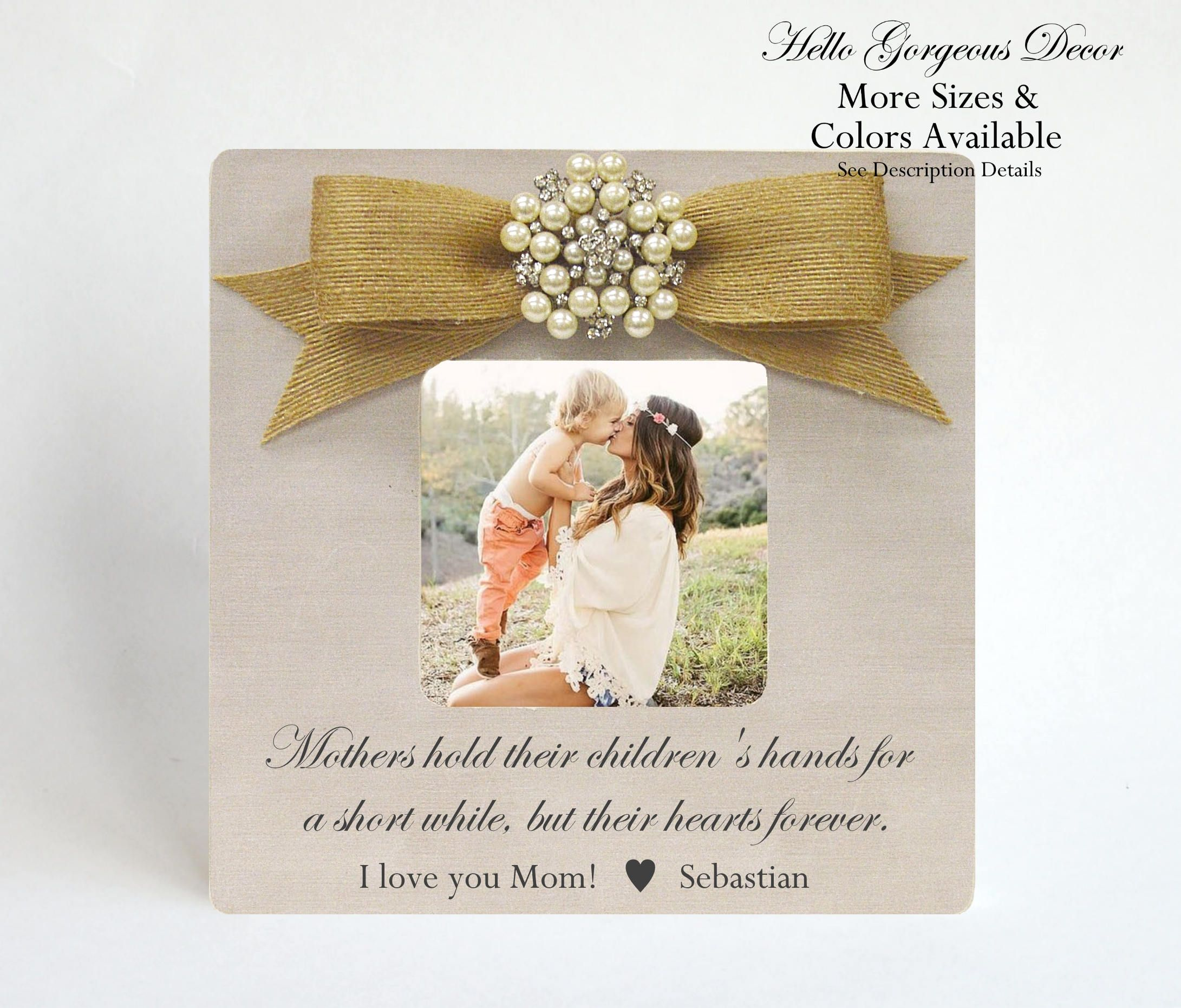 Mom Mother Picture Frame Gift For Mom From Baby