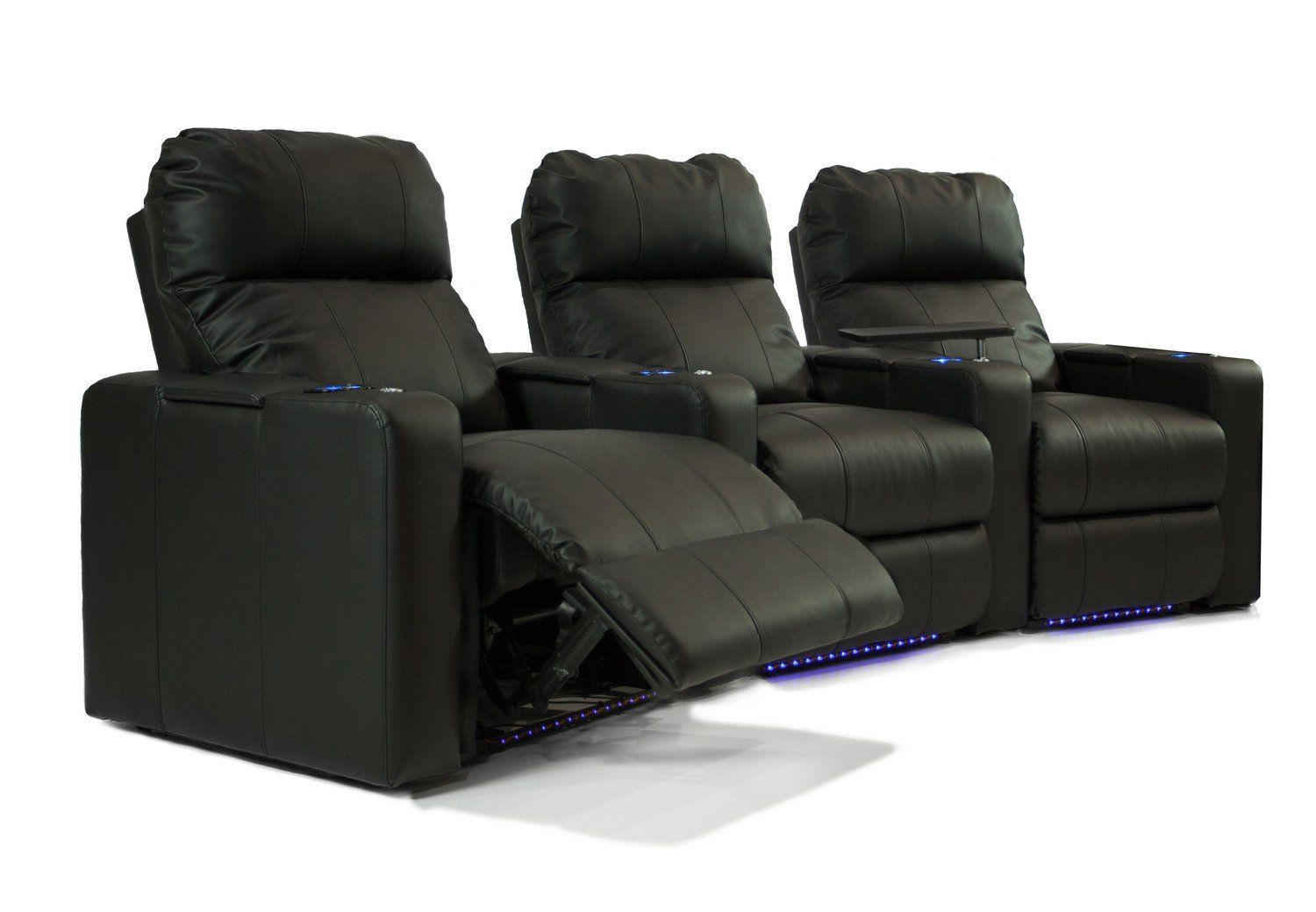 octane turbo xl700 row of 3 seats curved row in black bonded leather rh pintower com