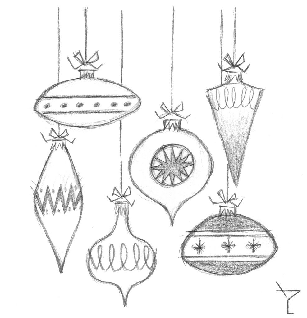 Christmas Ornaments Drawings Google Sogning Ornament Drawing Christmas Sketch Vintage Christmas Ornaments