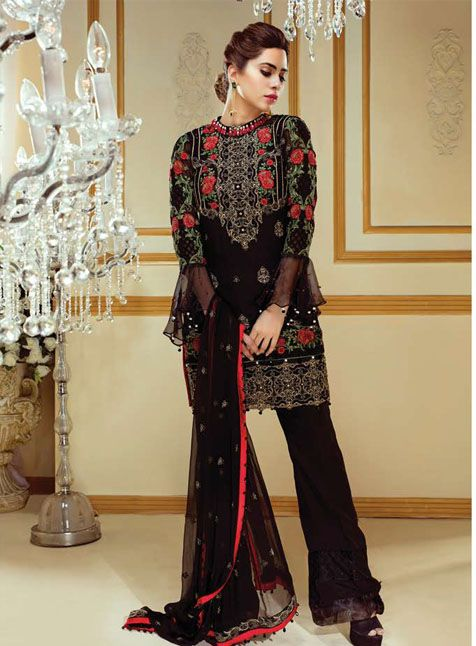 0a78bc2974 Gulaal GE 005 | Empereus By Maryam Luxury Chiffon Collection Vol 3 ...