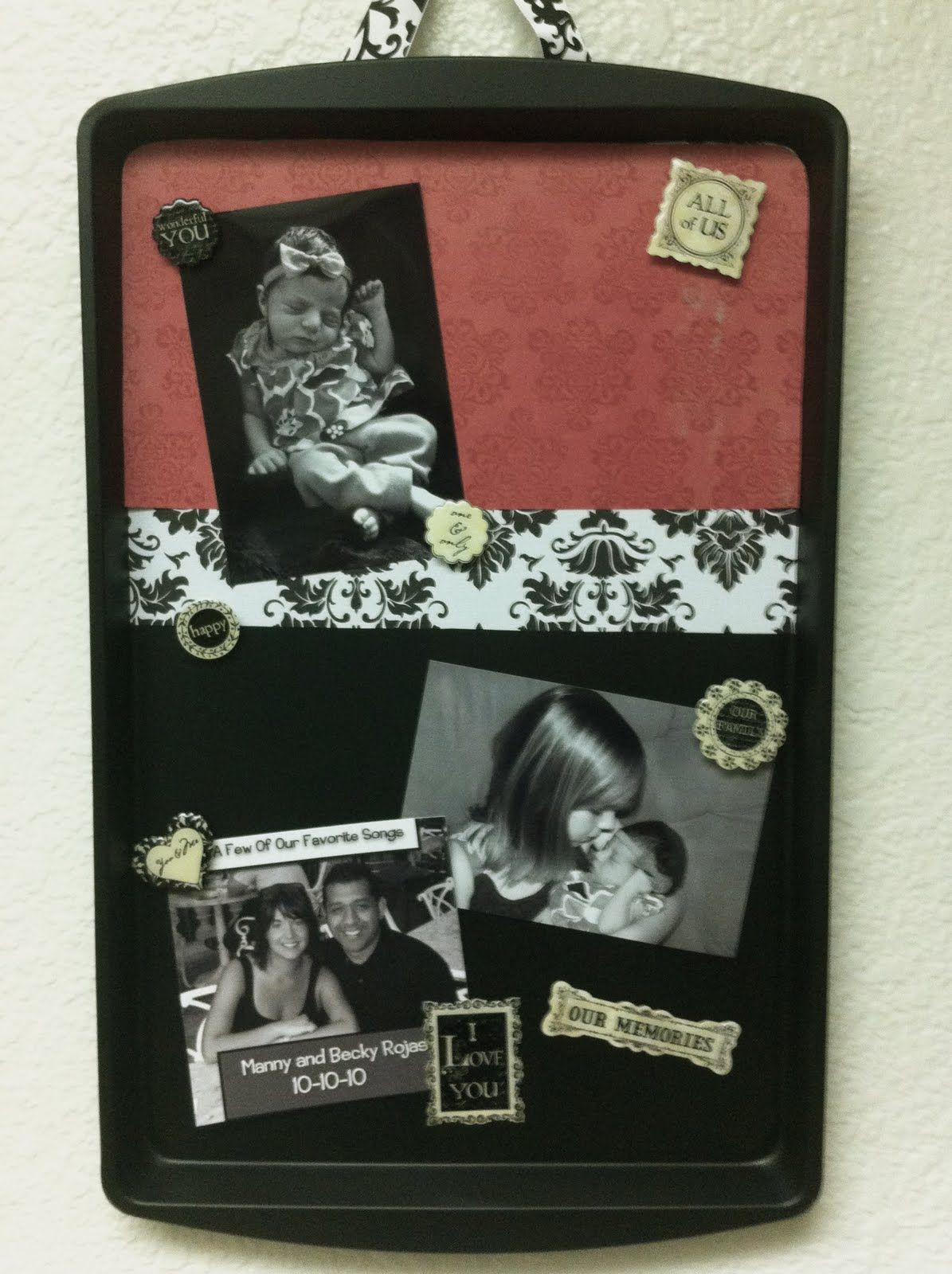 """cookie sheet magnet board. Going to do this with the magnets I picked up from my trip and going to make it say """"places I have visited!"""" I can't wait!!"""