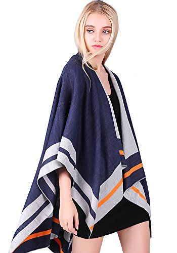 Women winter shawl wraps oversize poncho soft blanket warm Open Front Cardigan >>> Want to know more, click on the image.