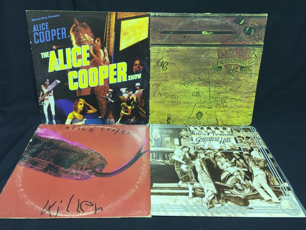 Alice Cooper LP #Vinyl Record Lot of 4 The Show + Killers + Schools Out +Greatest