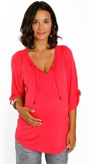 9c2d667e69a59 Everly Grey Maternity Coral Robyn Tunic-Final Sale   Products ...