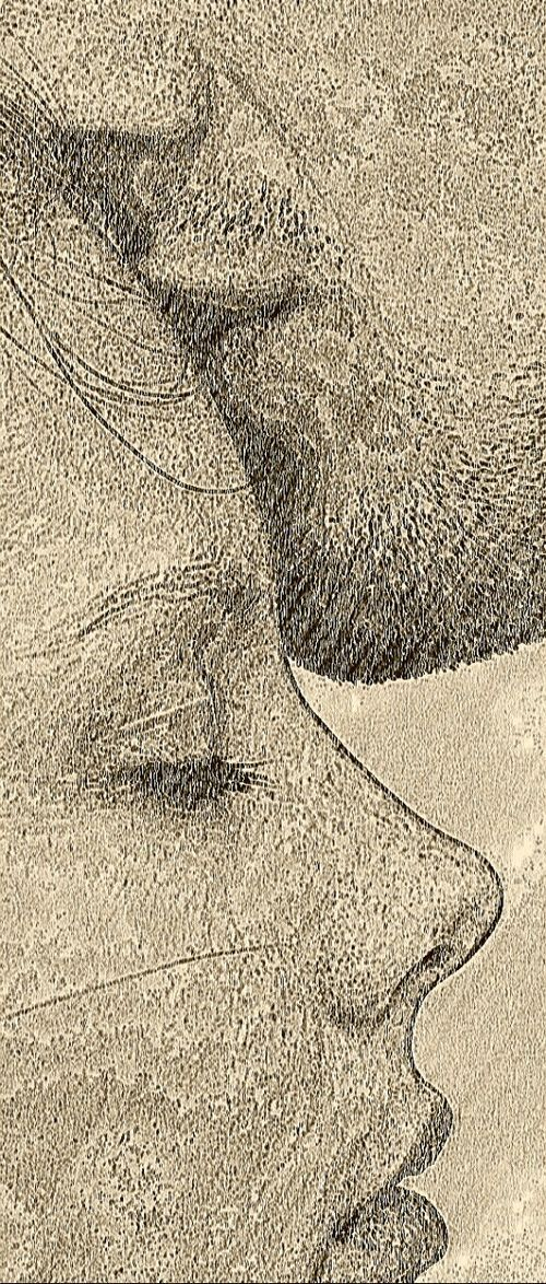 Pencil Sketch Forehead Kiss With Images Sketches Love Art