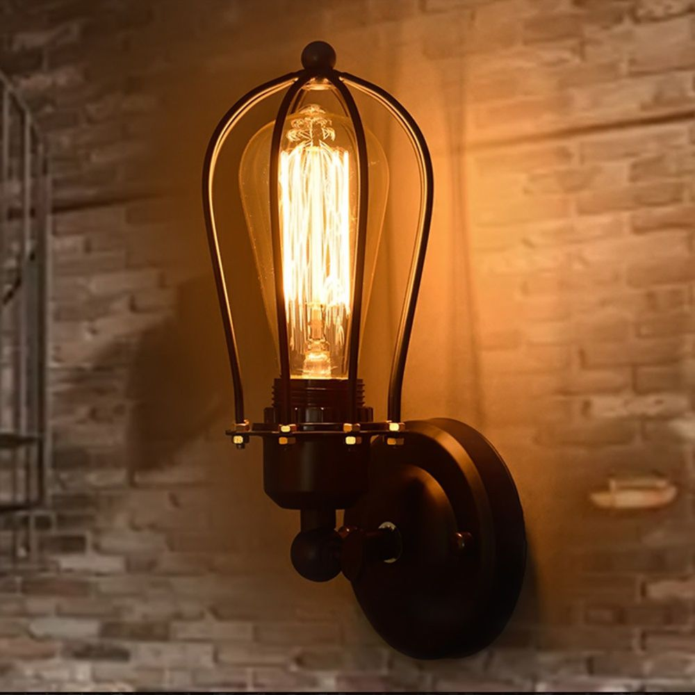 Metal Vintage Industrial Loft Coffee Rustic Sconce Wall Light Wall Lamp Fitting Rustic Wall Lighting Wall Lights Wall Mounted Light
