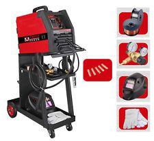 MIG 135 Amp Flux Core Wire Welder 115V Welding Machine W/Cart & All Accessories