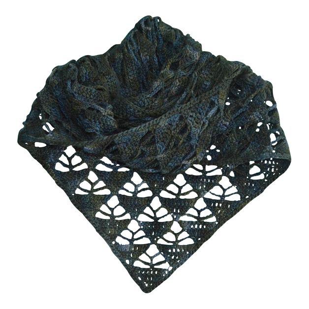 Häkelanleitung : pyramid shawl | Häkelanleitung, Dawanda und Tücher