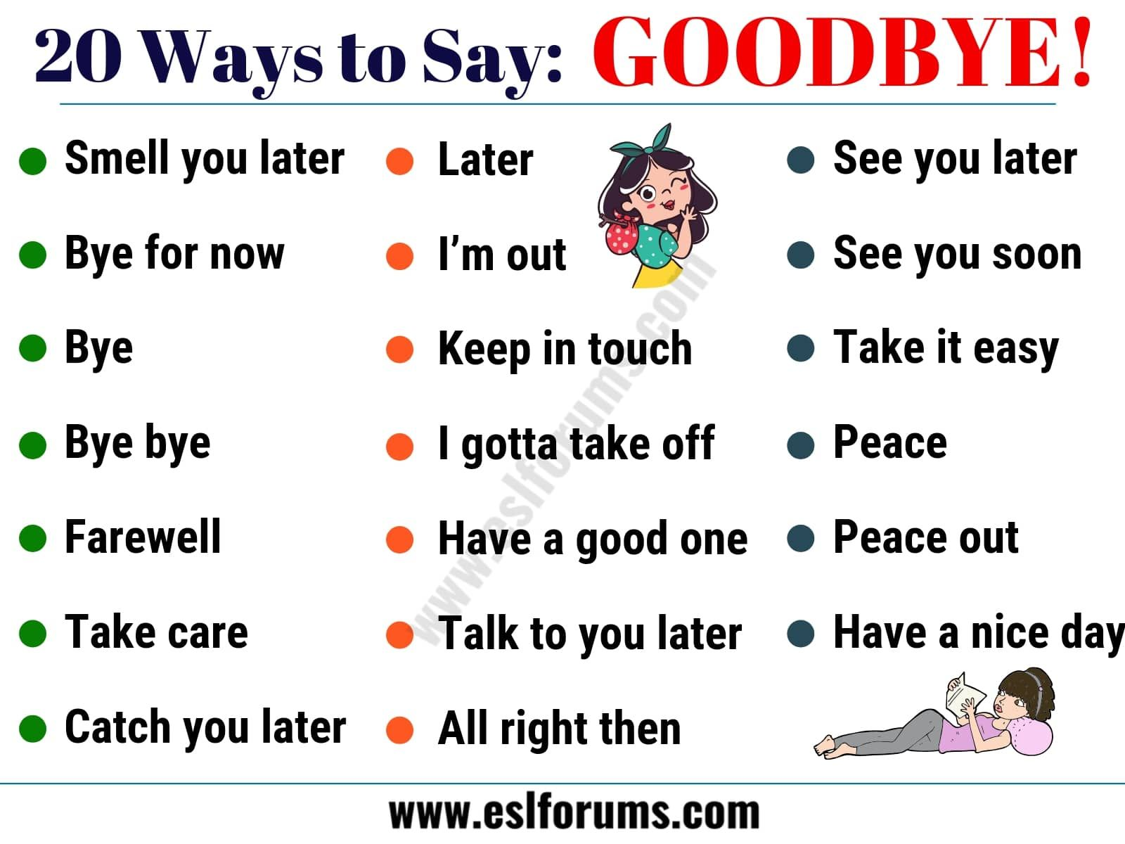 20 Funny Ways To Say Goodbye In English