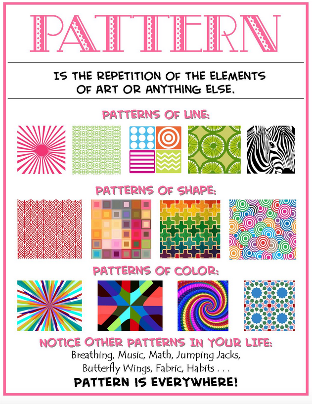 Week 35 Definition of Pattern Poster Quilt design
