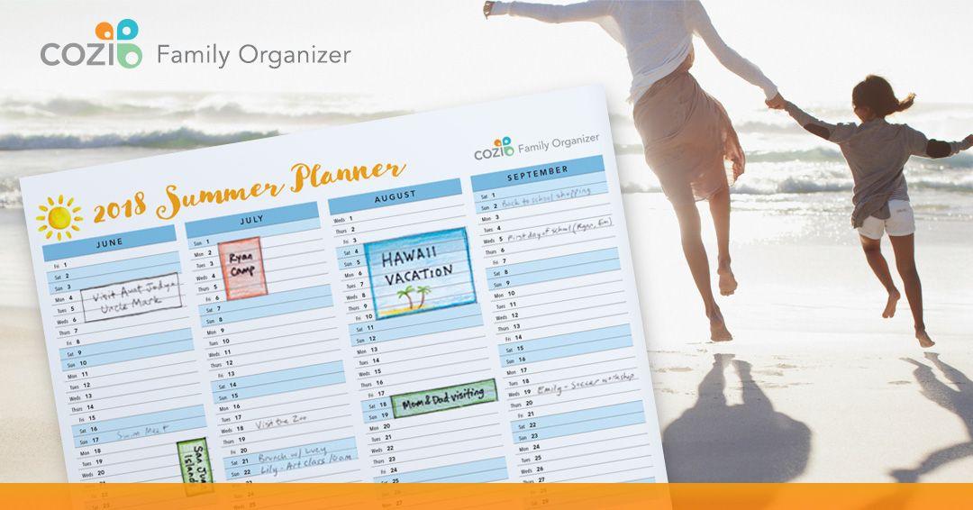 Club Cozi Family organizer, Summer planner, Busy family