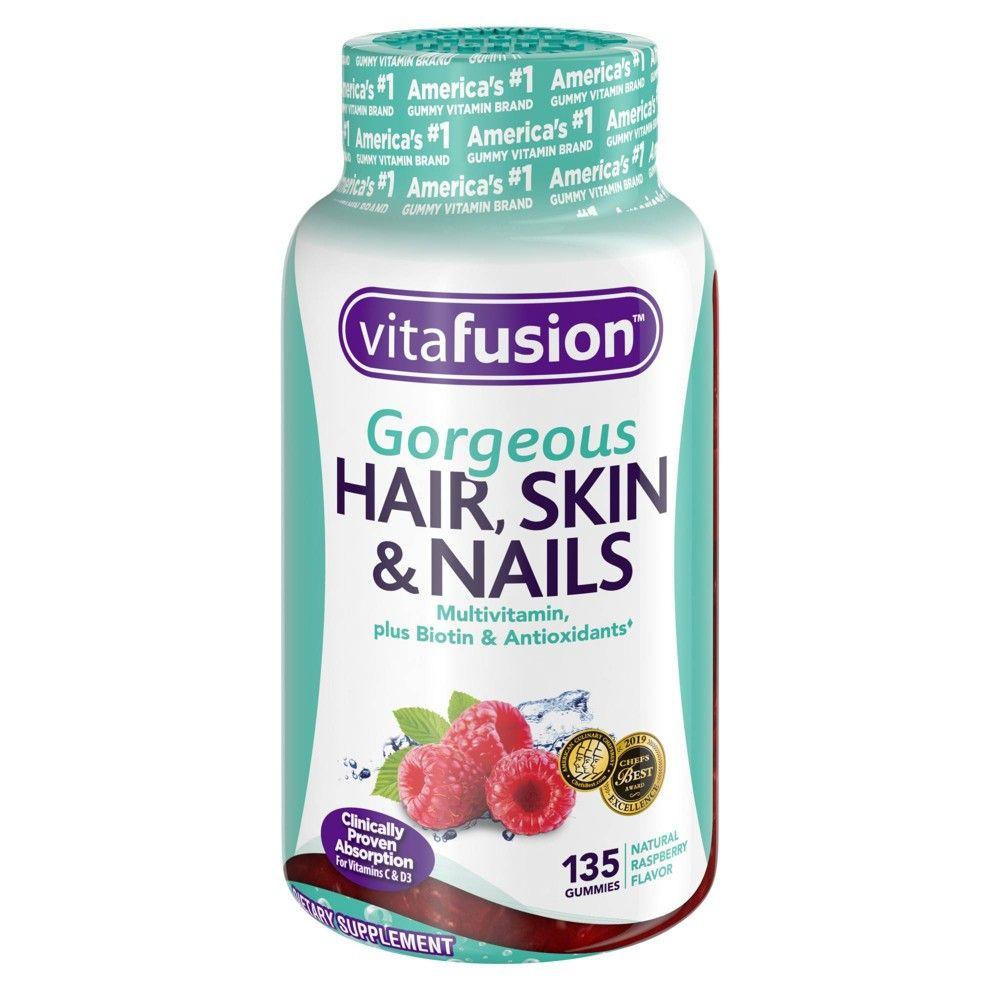 Vitafusion Gorgeous Hair Skin & Nails Supplement Gummies ...