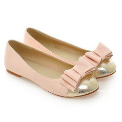 $18.37 Fashion Women's Flat Shoes With Bow and Splice Design