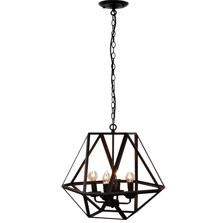 Unitary Brand Antique Black Metal Hanging Lantern Candle