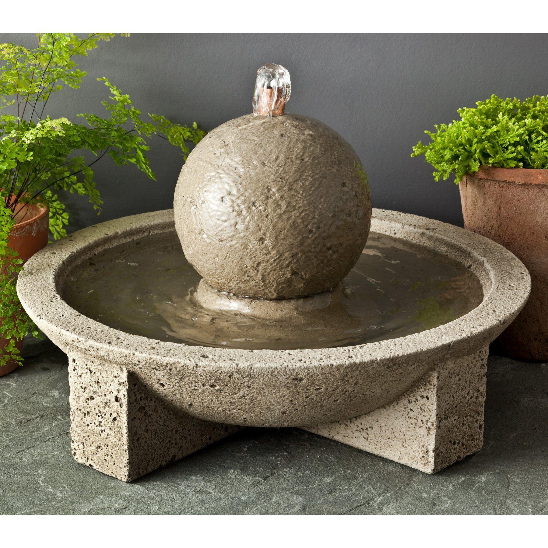 Campania International M Series Sphere Outdoor Fountain Ft 159