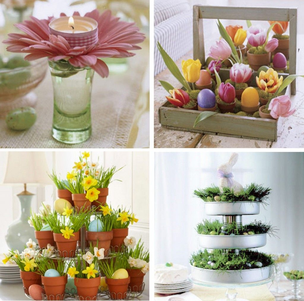 diy flowers and grass for easter 3 easter decorating ideas - Easter Decorating Ideas
