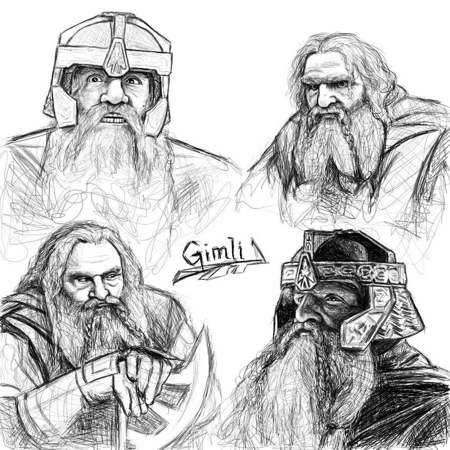 Gimli sketches by ~Manweri on deviantART | Geekin\' Out: Tolkien ...